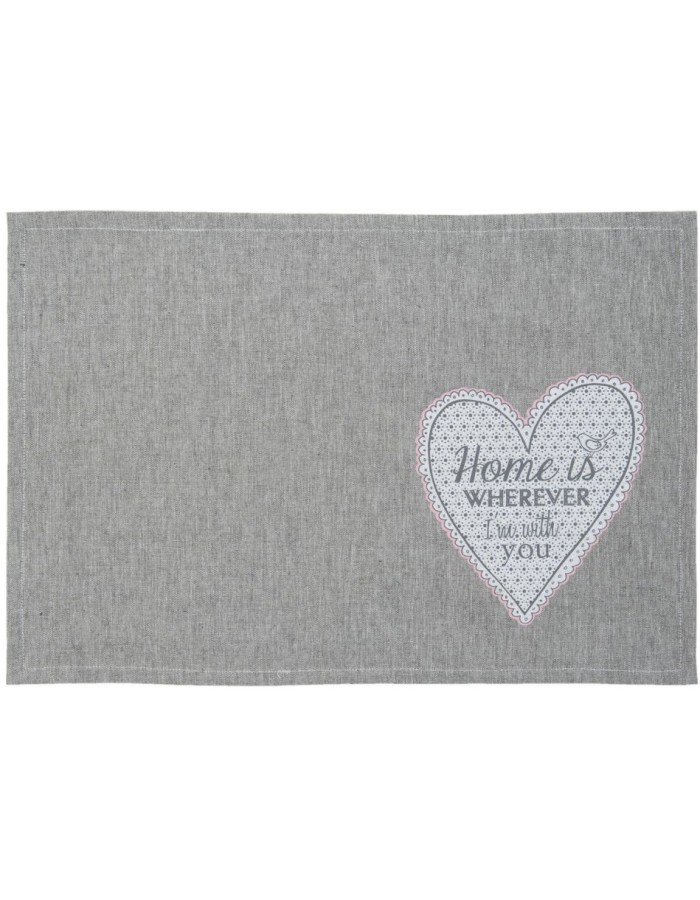 My Lovely Home placemats 6 pieces grey