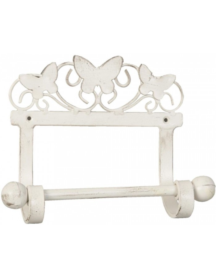 toilet roll holder white - 6Y1455W Clayre Eef
