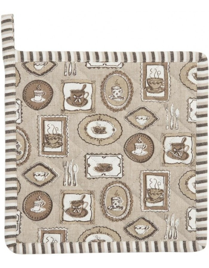 Potholders Coffee Time brown