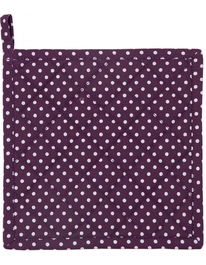 Topflappen JUST DOTS aubergine