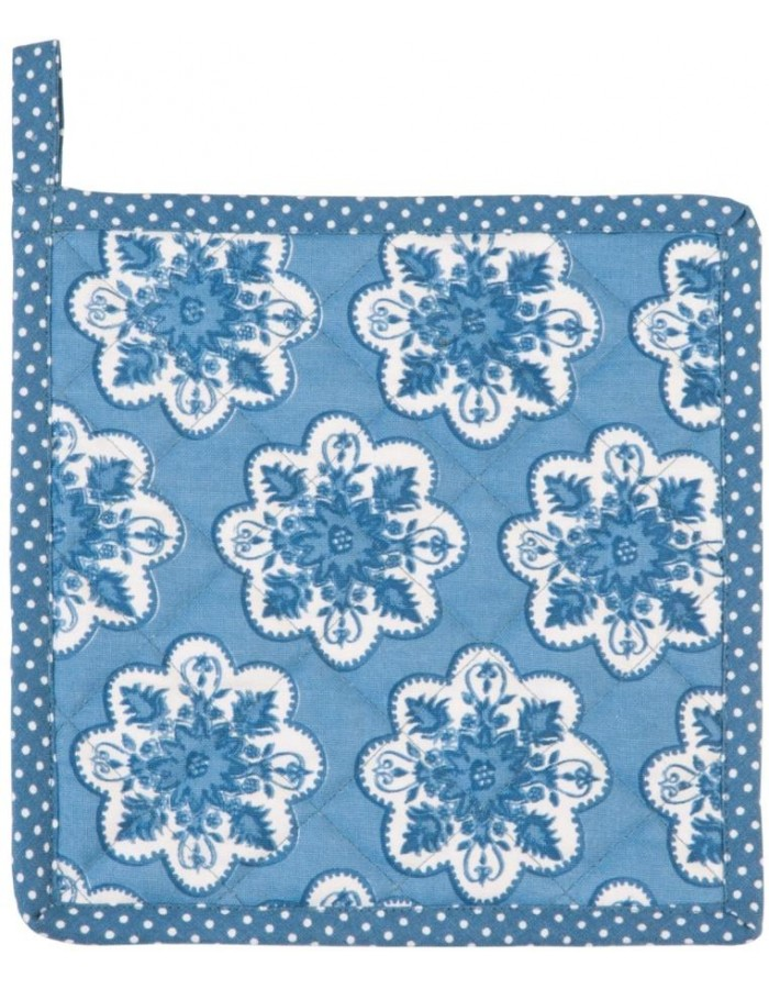 Topflappen Mixed Patterns blau 20x20 cm