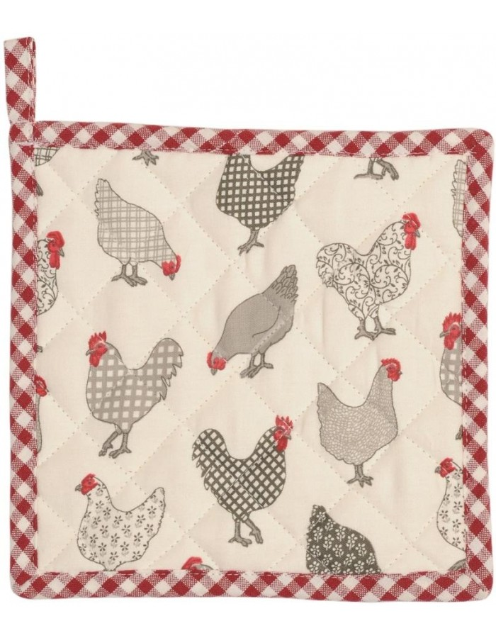 Chicken Pot holders red all over