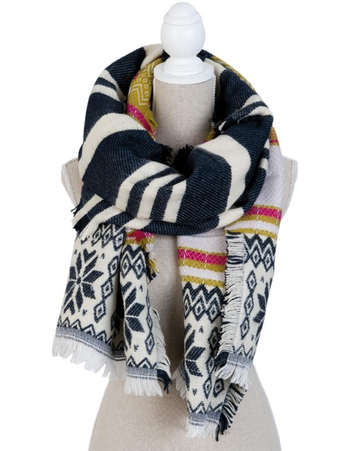 50x195 cm synthetic scarf SJ0683 Clayre Eef