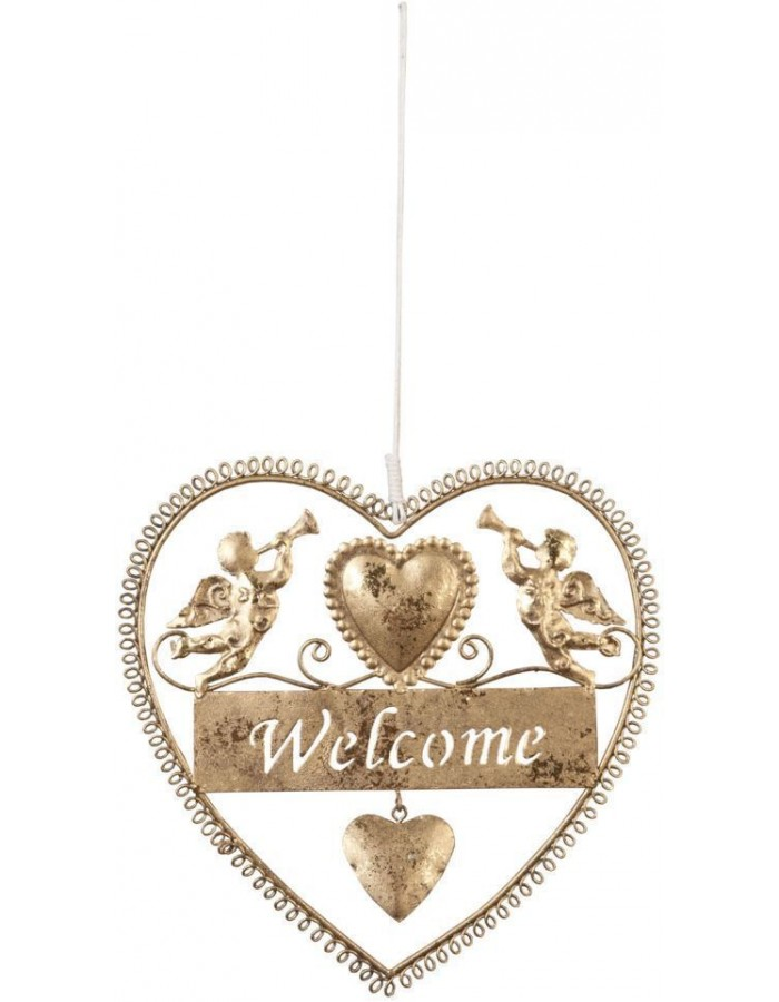 door decoration WELCOME gold - 6Y1291M Clayre Eef