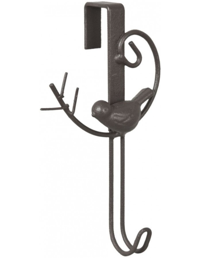 door hook BIRDIE brown 9x17 cm