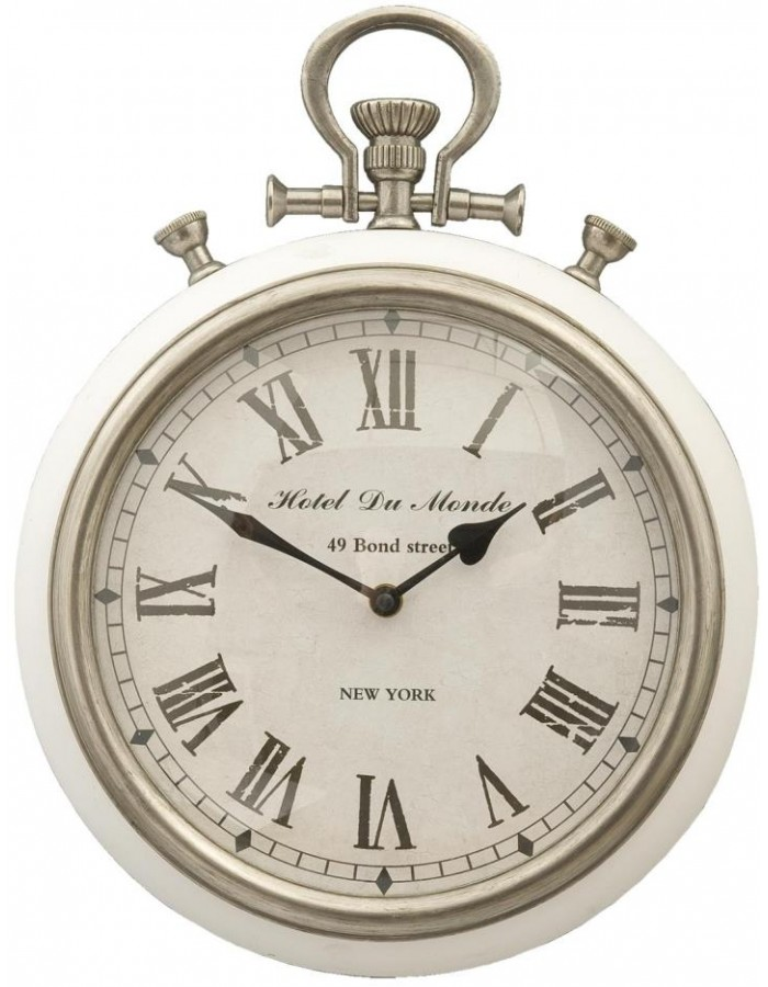 AM as a stopwatch Ø 30x10 cm silver-white
