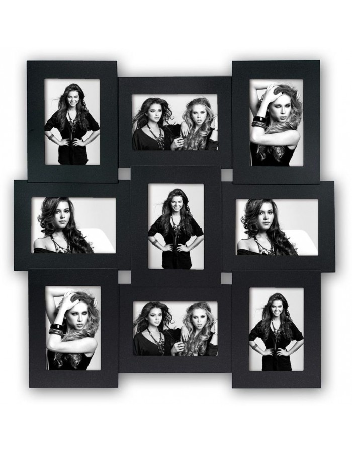 VICENZA gallery frame 9 photos 10x15 cm black