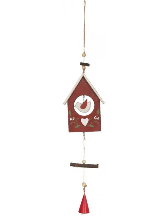 Bird house 6H0758R Clayre Eef in the size 10x2x43 cm