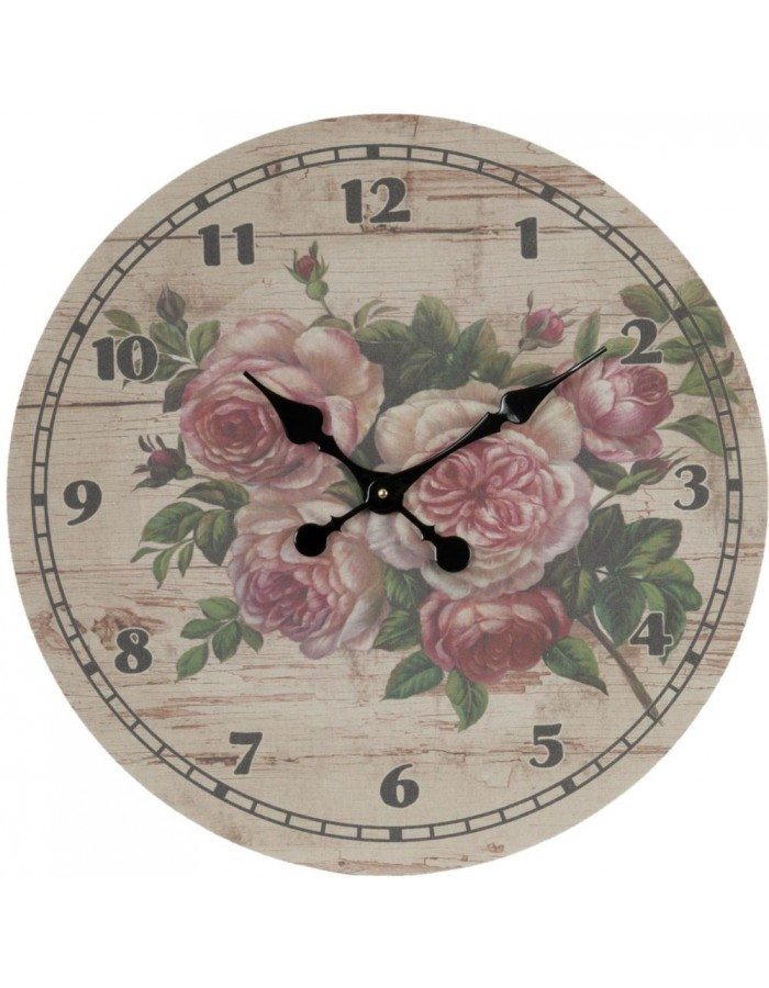 clock flowers - 5KL0034 Clayre Eef