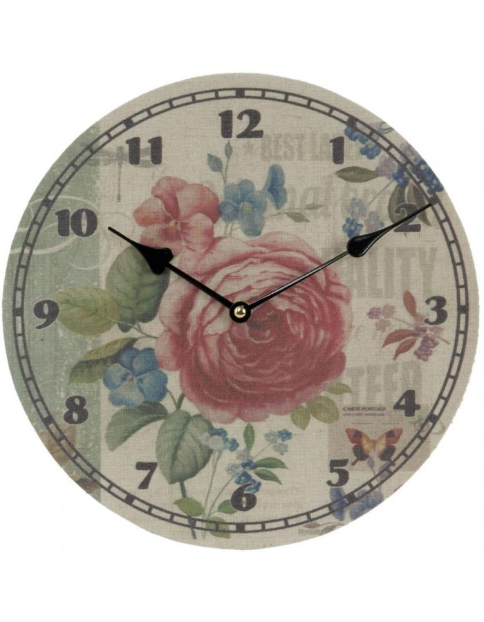 clock flowers - 6KL0269 Clayre Eef