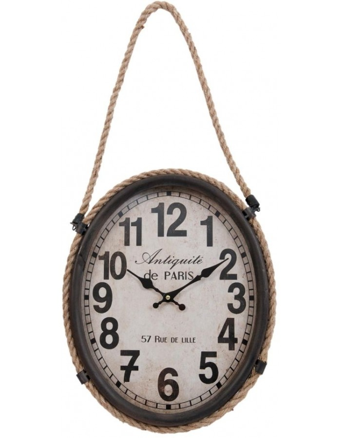 wall clock brown - 6KL0315 Clayre Eef