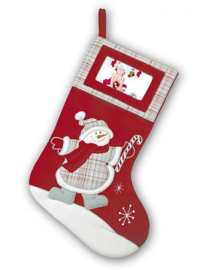 TT70 ZEP Weihnachtssocke in rot mit Schneemann für den Kamin