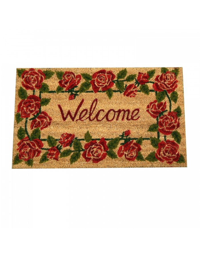 Welcome door scrapter with roses 75x45 cm