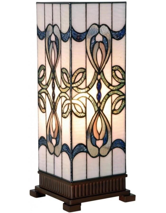 Windlicht Tiffany blau-weiß 18x45 cm Clayre Eef | fotoalben-discount.de