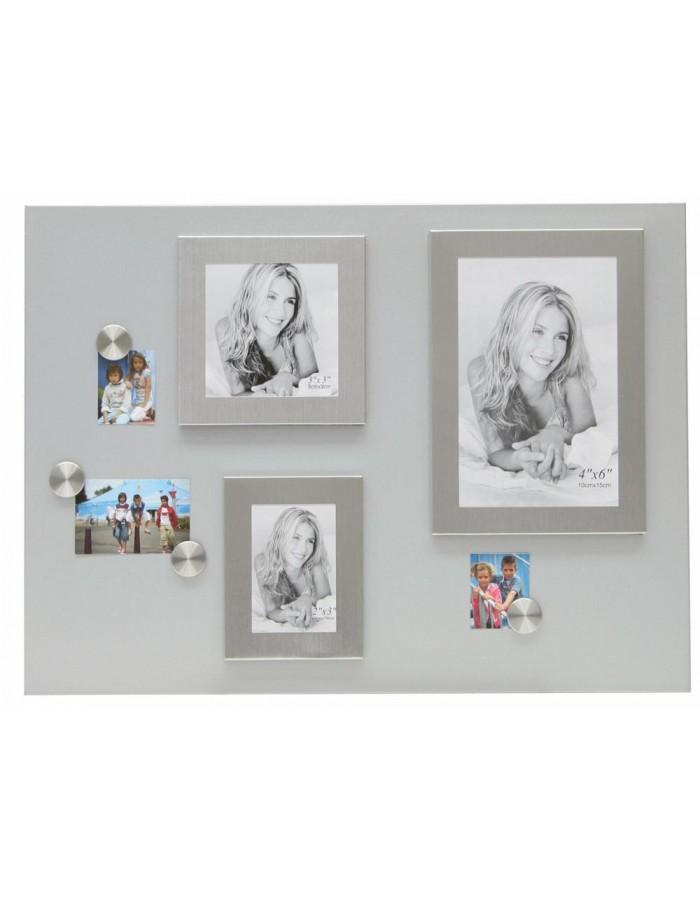 deknudt xl magnetwand mit 3 magnetischen rahmen fotoalben. Black Bedroom Furniture Sets. Home Design Ideas