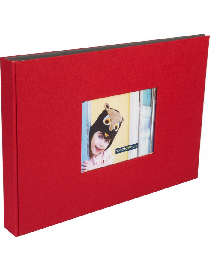 XL screw bound album ELBE A3 red
