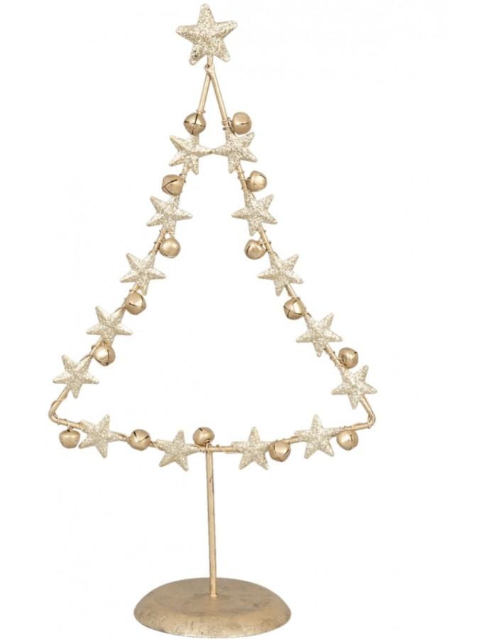 Clayre Eef abstrakter Weihnachtsbaum 18x9x33 cm gold   fotoalben ...