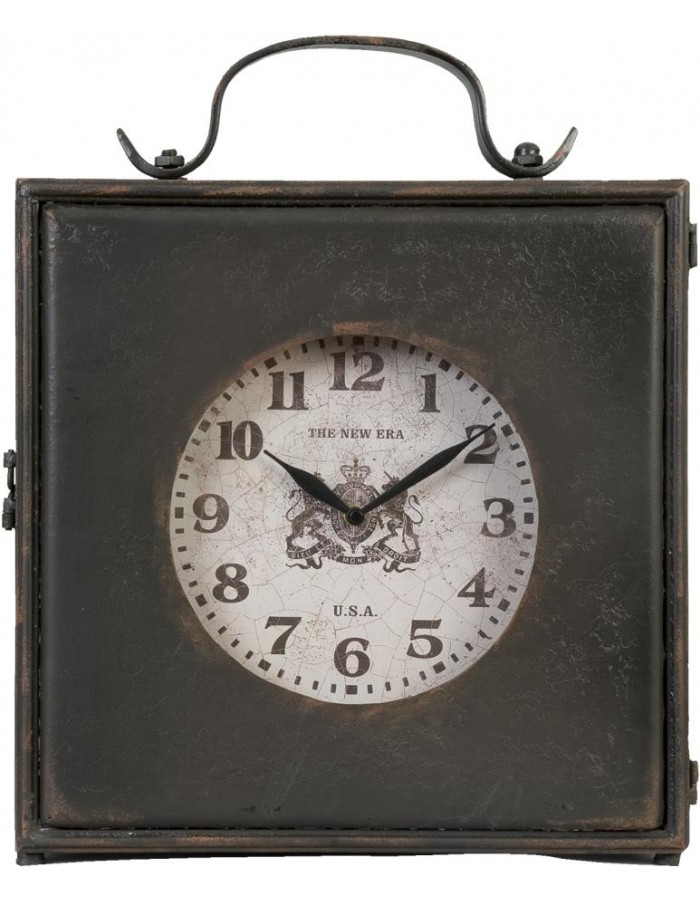 antique clock of Clayre & Eef 37x17x37 cm