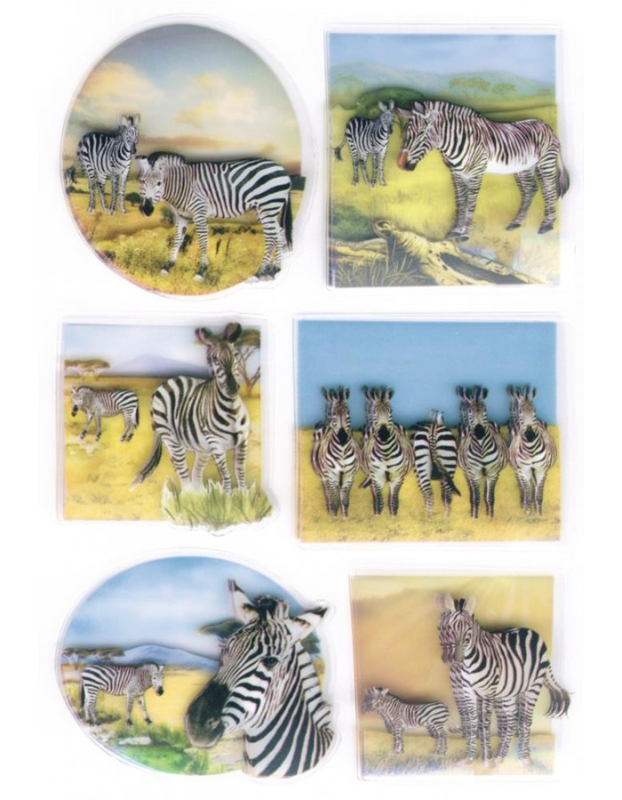 3D-Sticker ZEBRA - MAGIC, self adhesive