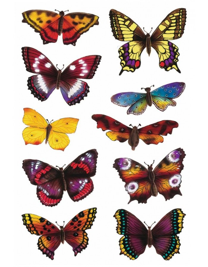 Stickers Colourful Butterflies DECOR, self adhesive