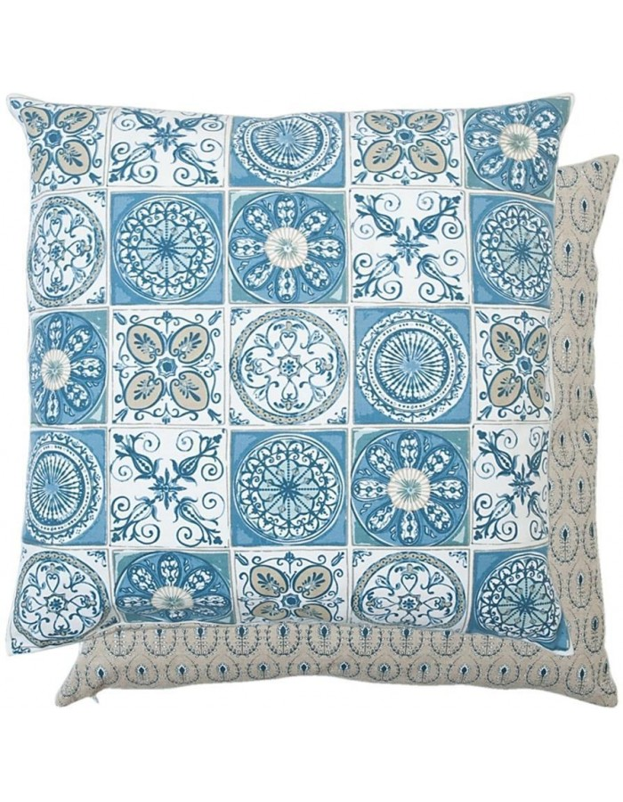 blue pillow unfilled oriental 50x50 cm