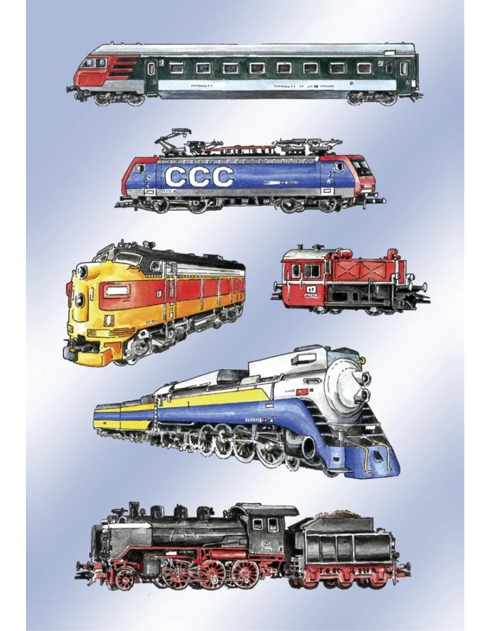 Stickers LOCOMOTIVES - self adhesive,  DECOR