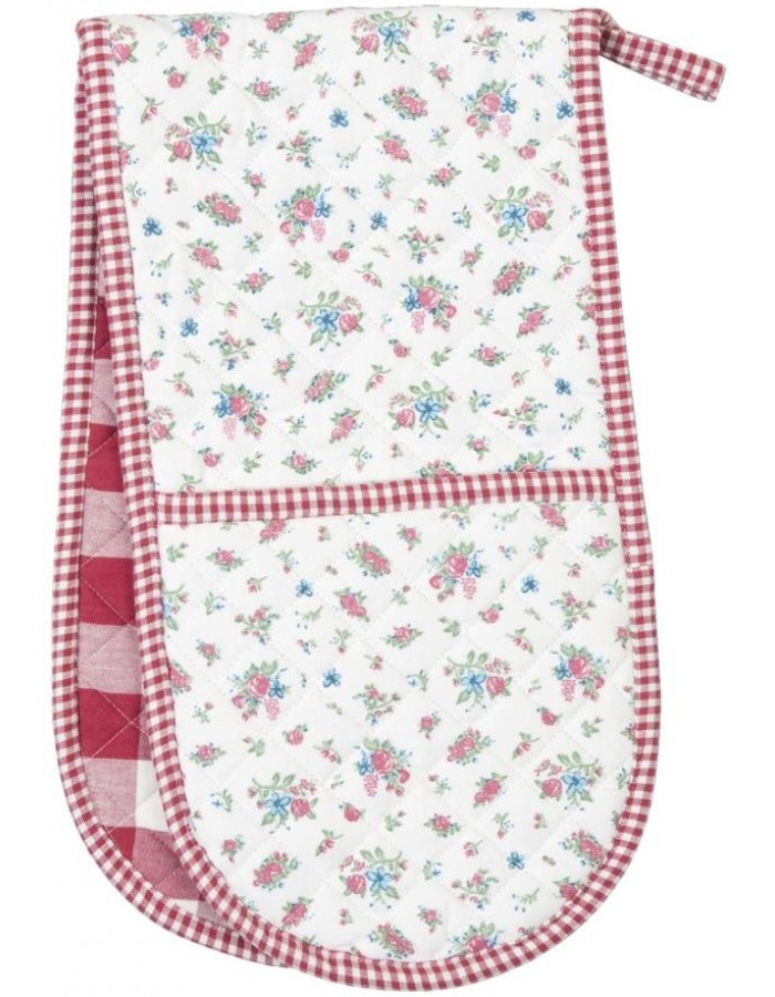 double oven glove scatter roses 20x80 cm