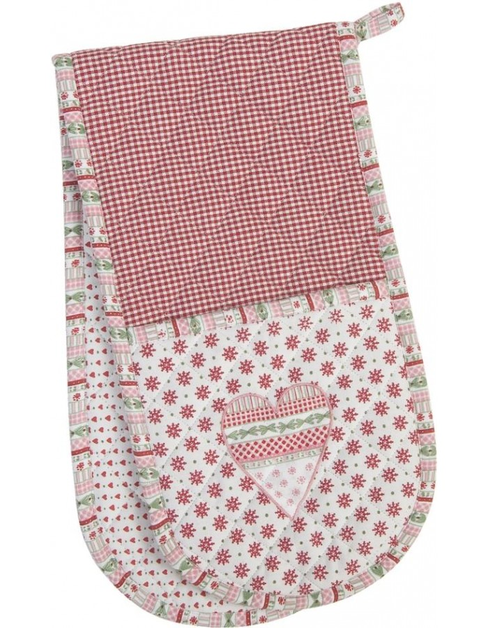 Double Oven Glove Christmas motif 20x80 cm