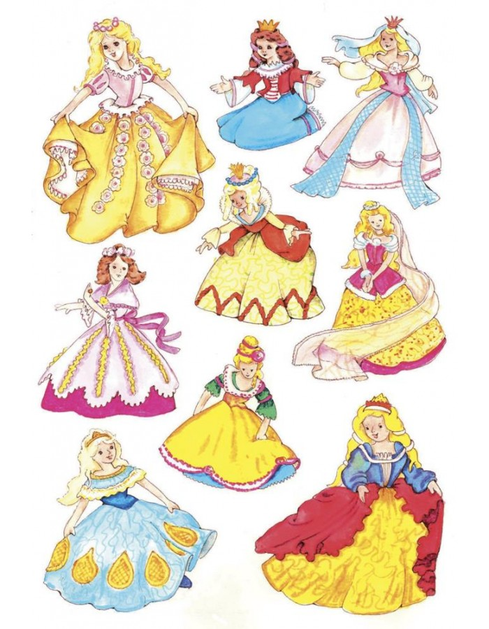 decorative labels Princess II - DECOR