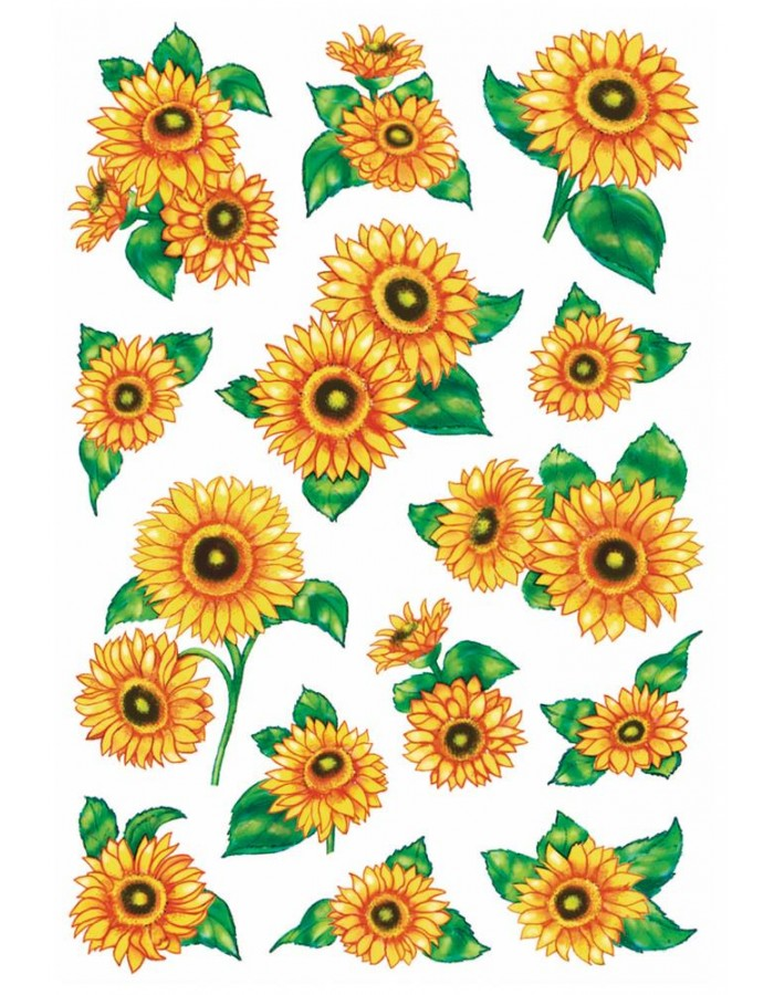 Stickers Sunflowers DECOR, self adhesive