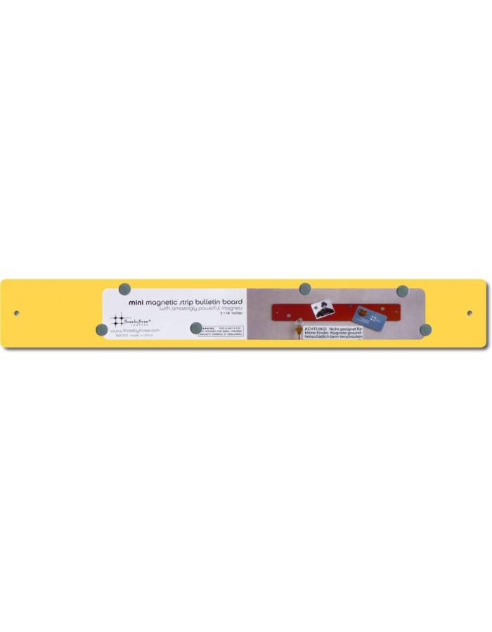 Gelbe mini strips magnetleiste 35 x 5 cm three by three for Gelbe tafeln