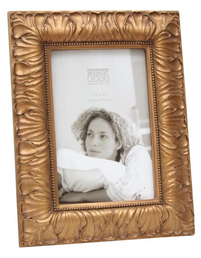 Deknudt goldener Bilderrahmen Floral für 1 Foto - 13x18 cm ...