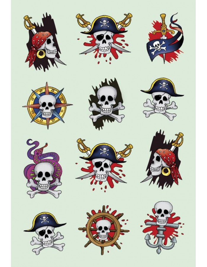gruslige Piraten-Aufkleber von DECOR Herma   fotoalben-discount.de