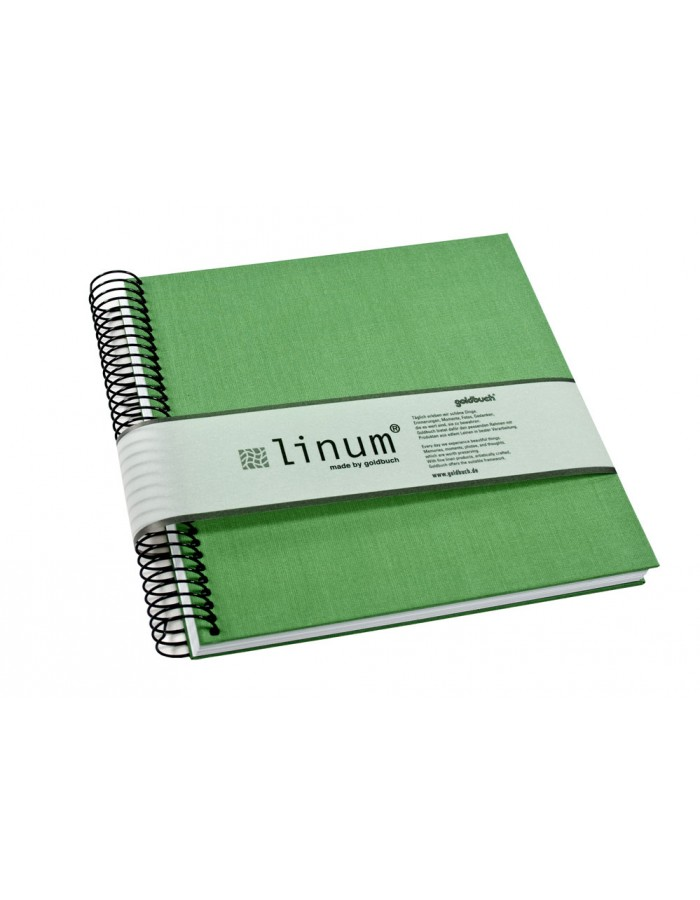 Sketch book Linum light-green square