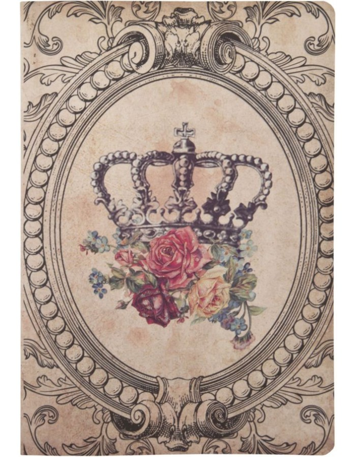 CROWN nostalgic pocketbook 14x20 cm
