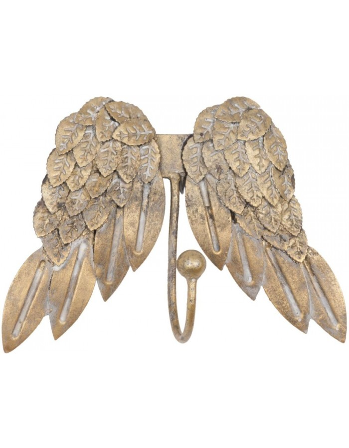 WINGS golden hook 19x14 cm