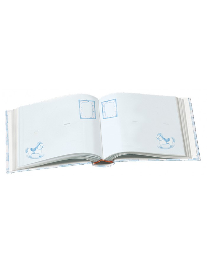 baby memo slip-in album Babies Book - blue