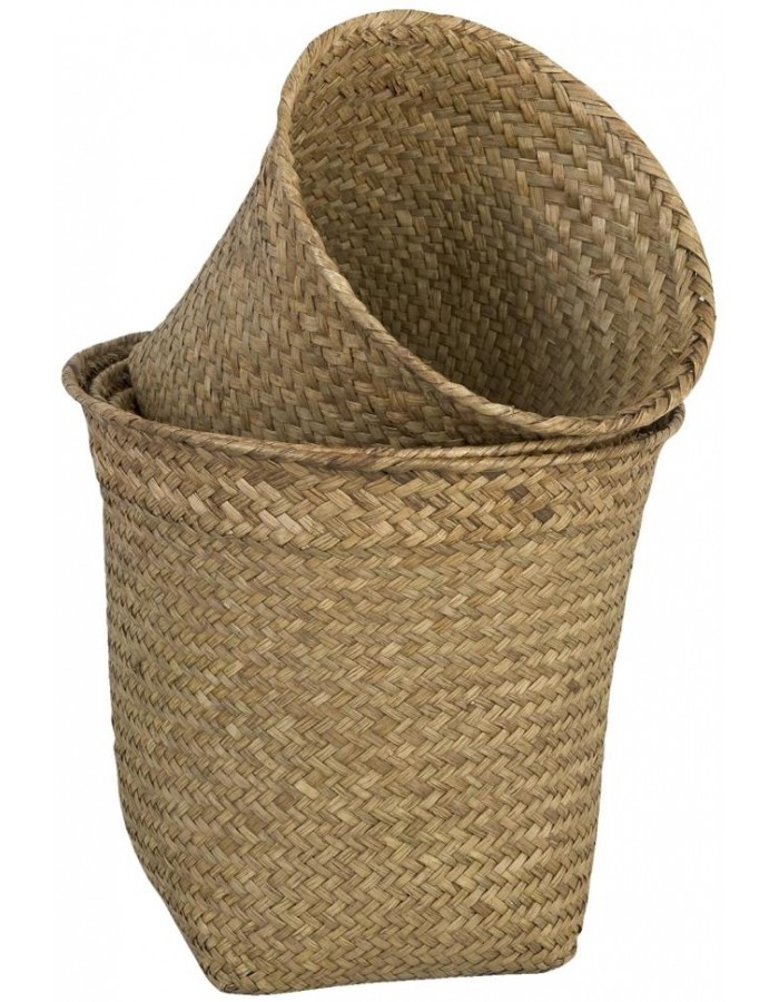 Set of 4 baskets brown of Clayre & Eef