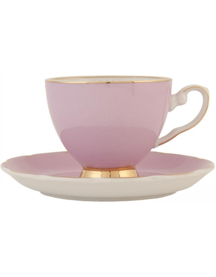 6CE0361P Clayre Eef cup with saucer - rose