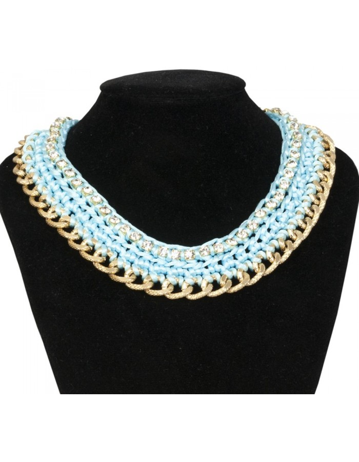 necklace light bue B0300496 Clayre Eef