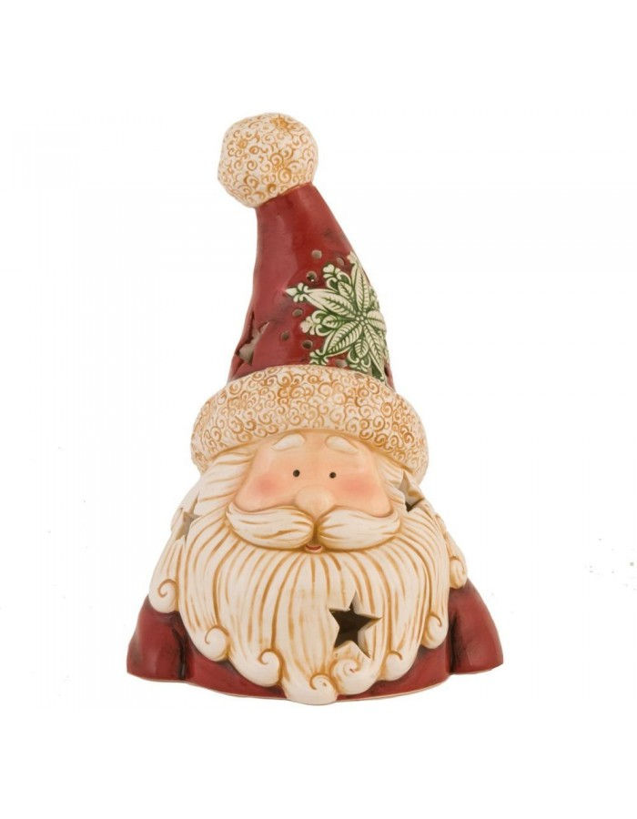 6CE0403 Clayre Eef Christmas decoration SANTA II - red/colourful