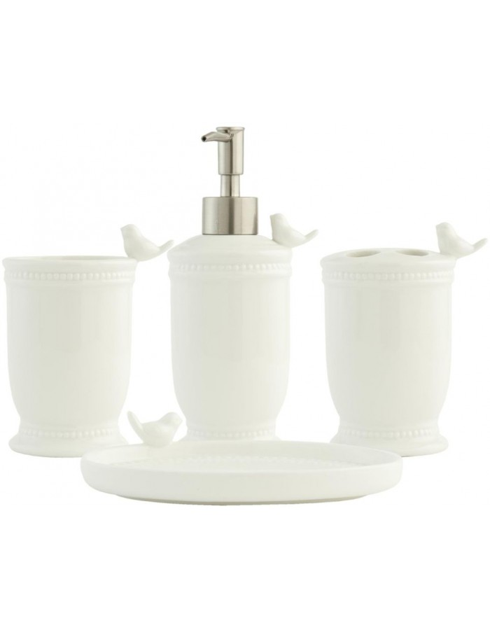 62977 Clayre Eef 4 pieces set bathroom BIRD