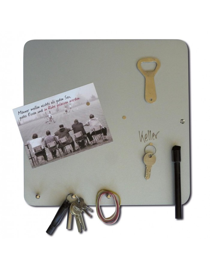 Magnetic Board With Hooks 30 Cm Hang On Dry Erase Silver Three By Thre