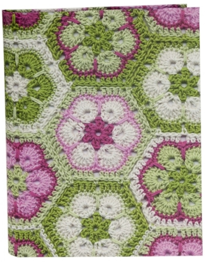 GRANNY SQUARES phone book green