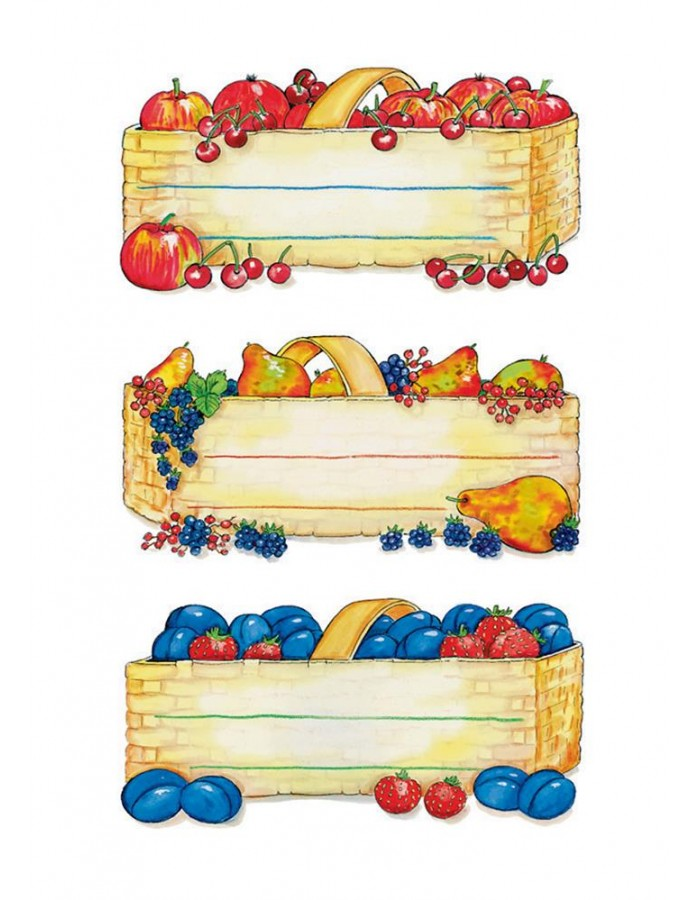 Adhesive canning labels Fruit Basket - 4 sheets
