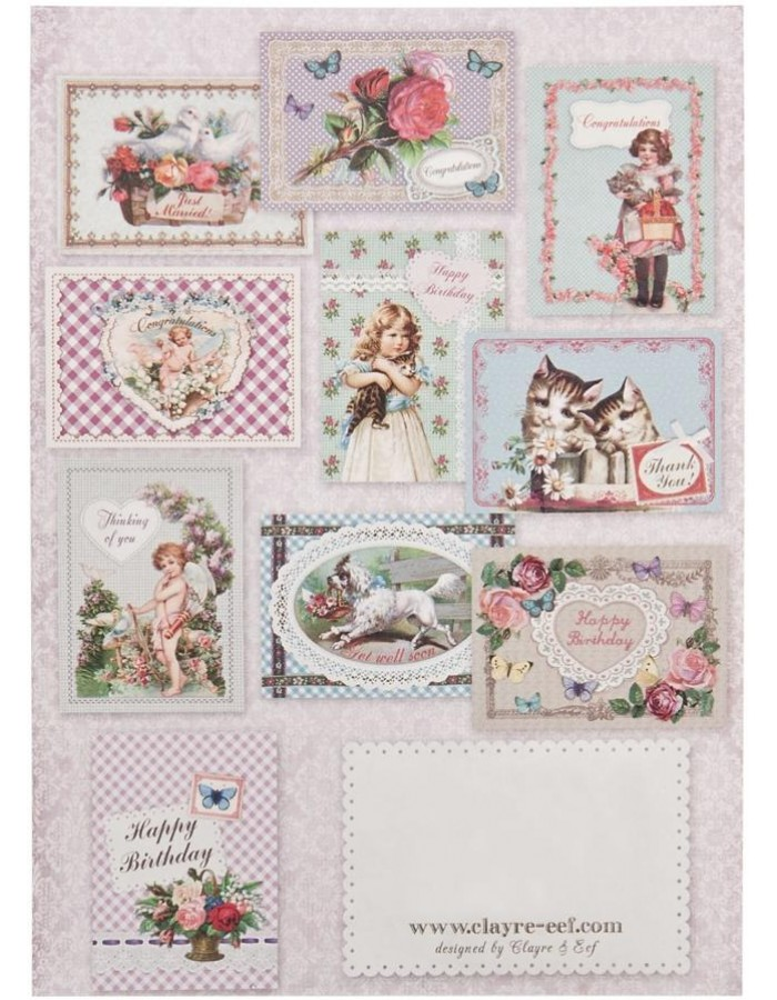 nostalgic set of cards 10 pieces English