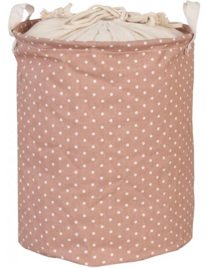 Wäschesack rosa mit Punkten   fotoalben-discount.de
