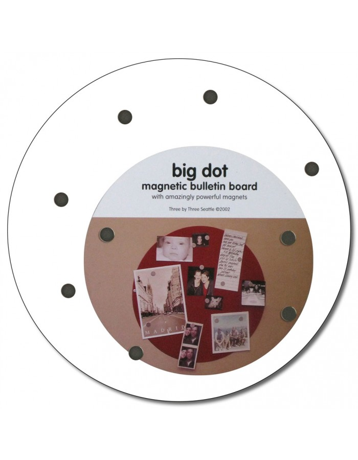 runde Magnetwand BIG DOT 23 cm in weiß