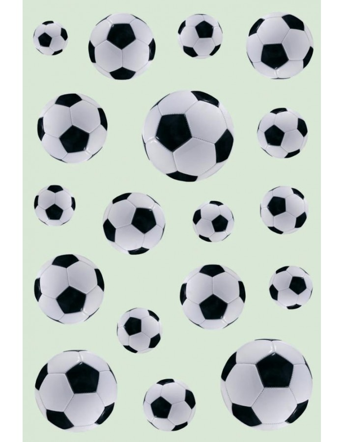 Beautiful stickers with soccer bowls - self adhesive, DECOR