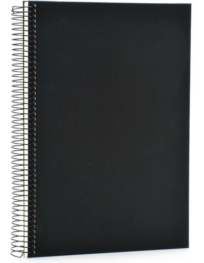 Black Din A4 sketch book Linum